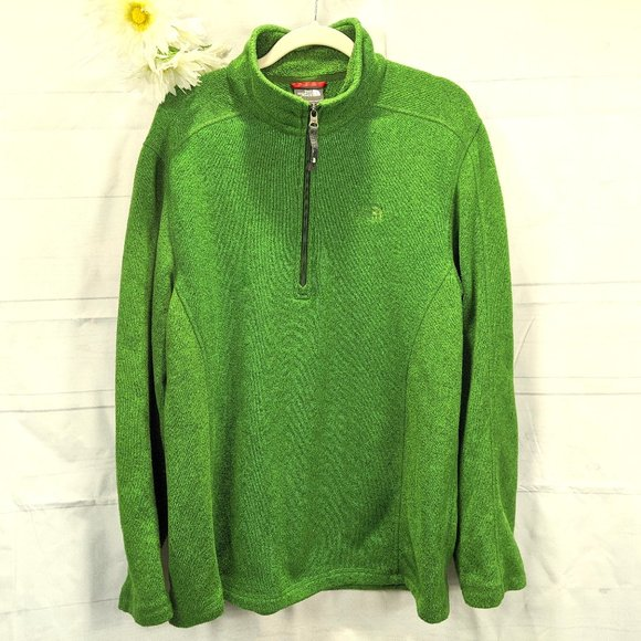 The North Face Forest Green Fleece Large Jacket